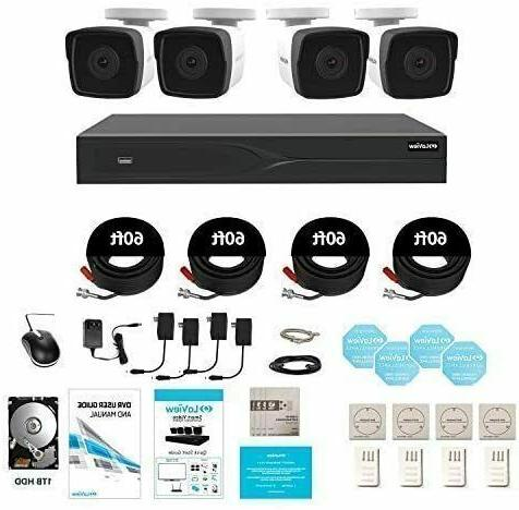 8 Channel System with 4x HD 4K 8.3MP H.265 Camera