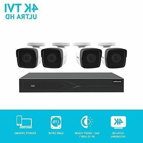 8 channel dvr security system with 4x