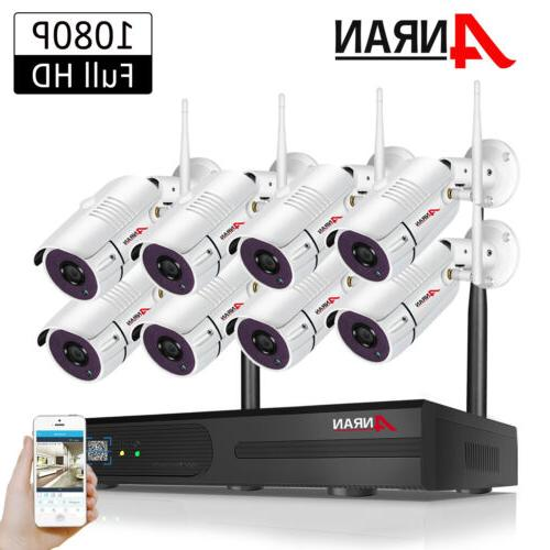 8ch 1080p cctv security camera system outdoor