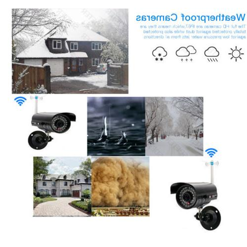 Wireless VGA NVR In/Outdoor Camera Home Security System Video