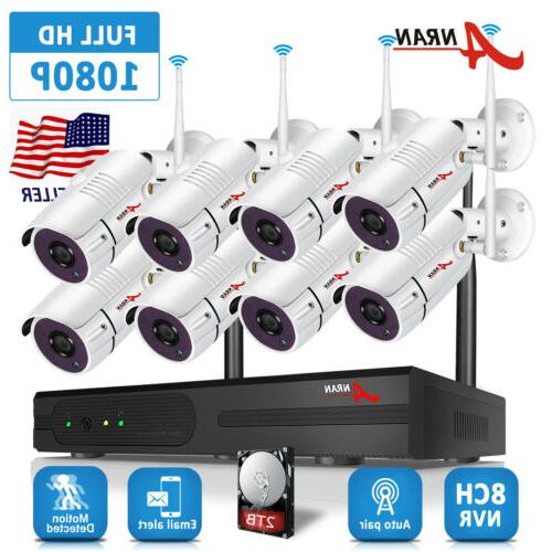 8ch wireless 1080p nvr outdoor indoor wifi
