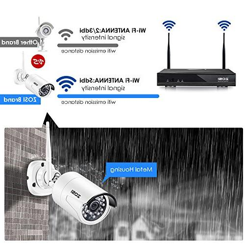 ZOSI Wireless Security Camera System 8Channel 1080P 2TB Hard and 2.0MP IP 65ft Vision, Customizable Motion Detection