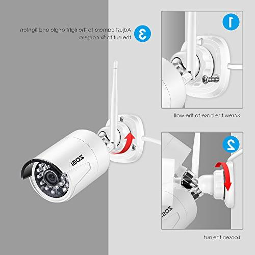 ZOSI 1080P Wireless Security System 8Channel 1080P Hard 2.0MP 1080P Indoor/Outdoor IP Night Vision, Motion Detection