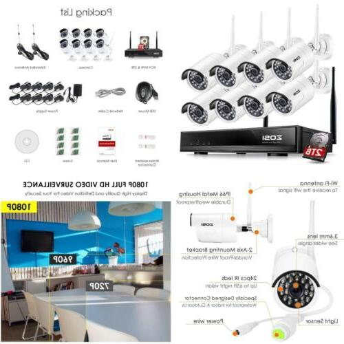 8ch wireless security system nvr