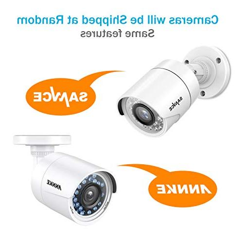 ANNKE Channel Security Camera System 5-in-1 lite H.264+ 1TB Drive 1080P Weatherproof HD-TVI with IR-cut LEDs, Instant with images