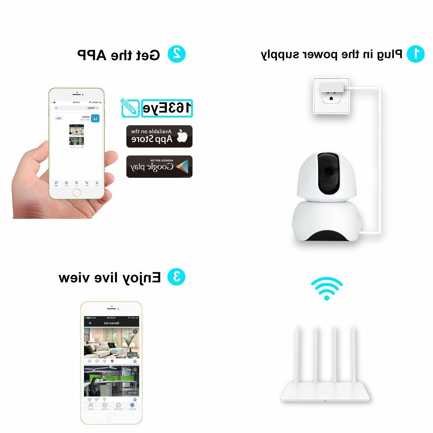 Smart Wireless Camera HD Remote For House
