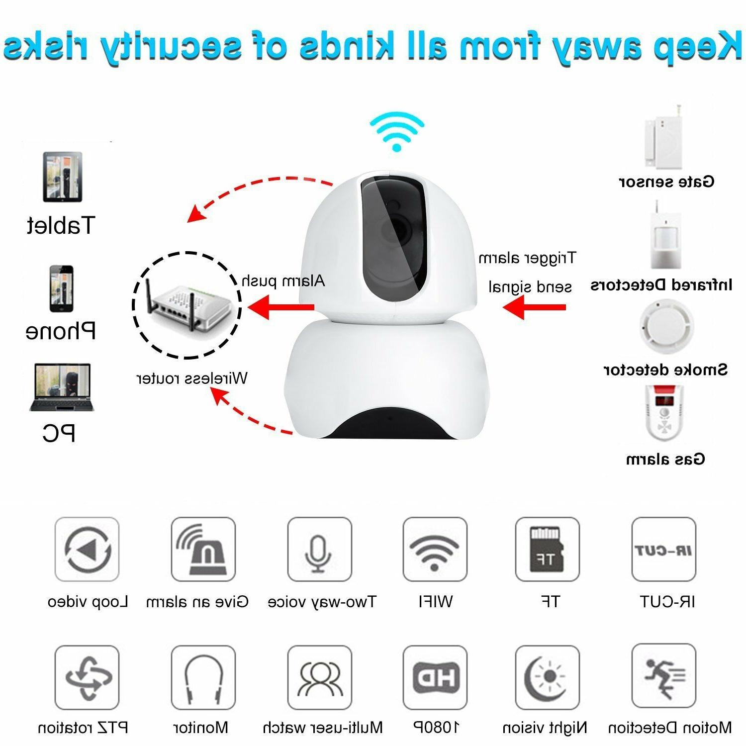 Smart Wireless Wifi IP Camera 1080P HD App Remote Control WI