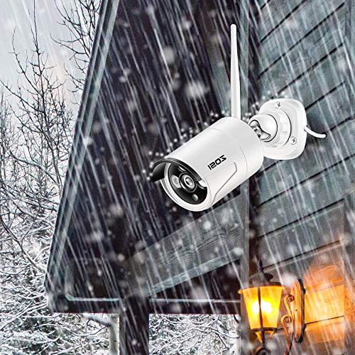 ZOSI Wireless Cameras Hard Channel NVR 1.3MP Outdoor Indoor Video Surveillance WiFi Cameras with Detection