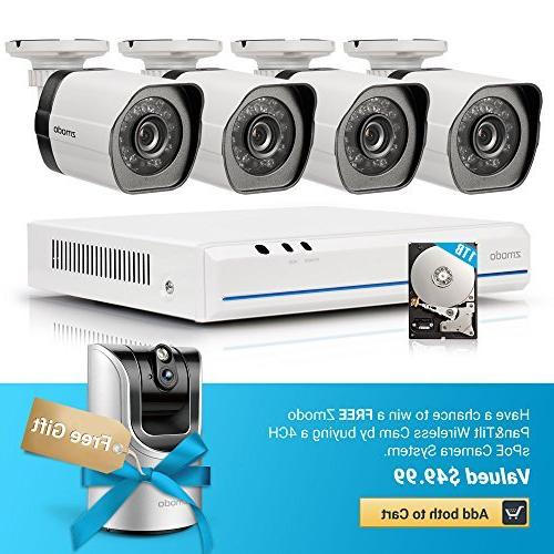 Zmodo 4 Channel sPoE Security Camera System with 4 Indoor/Ou