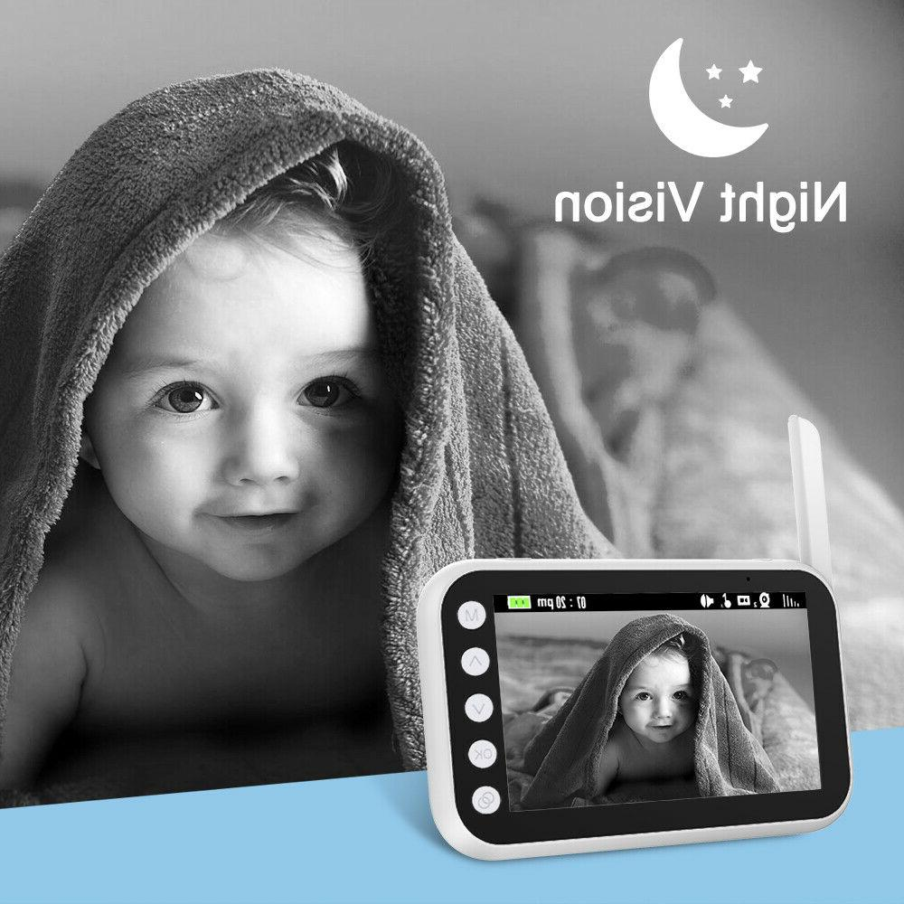 Baby Monitor Wireless with Two Large Screen, Night Visio