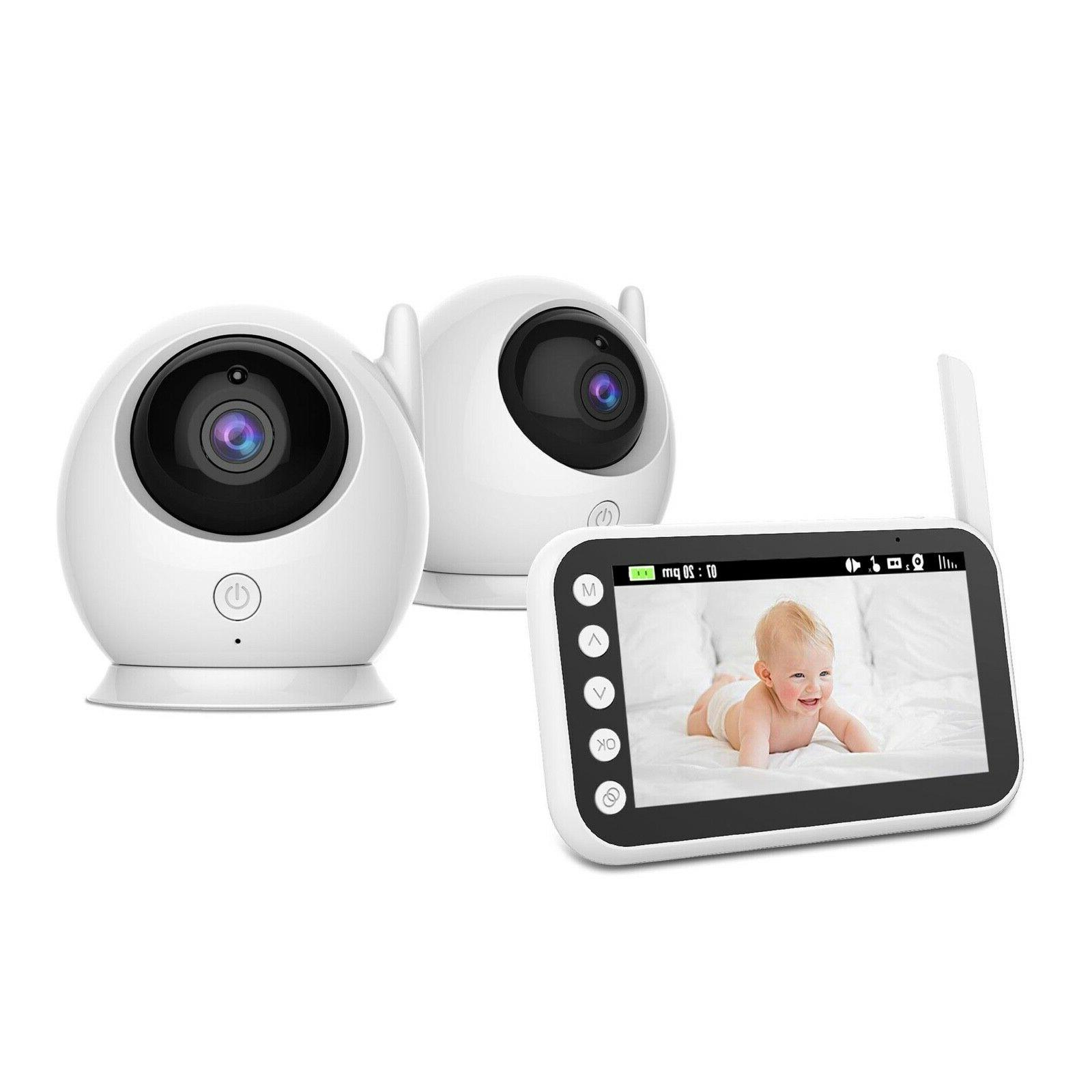 baby monitor wireless video with two cameras