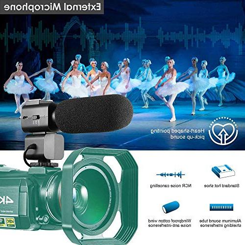 4K Ultra Video Camera 1080P WiFi Camera and Vision Camcorder IPS Touch Microphone Angle