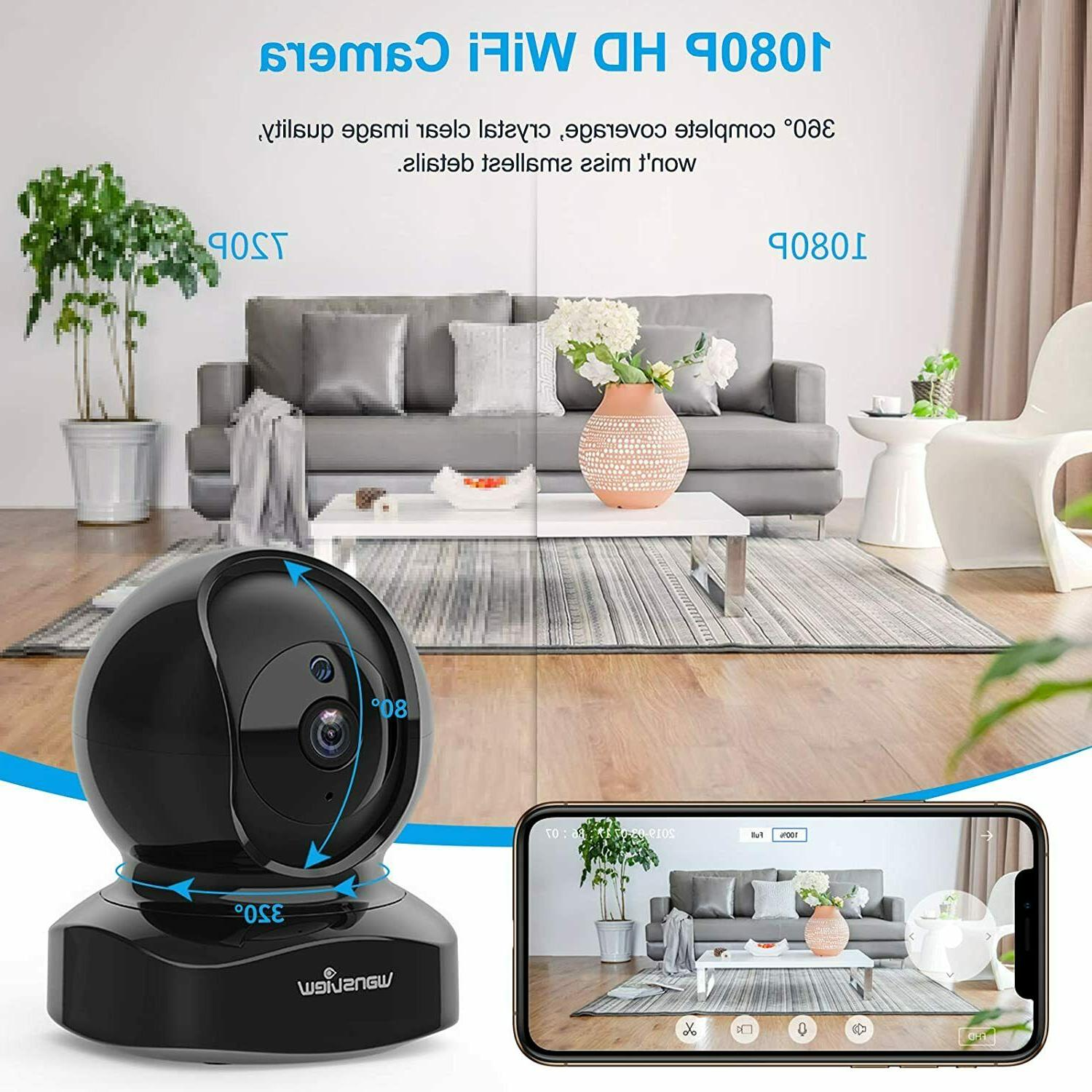 Camera Wireless Security Hd 1080p Wansview Cameras Black C