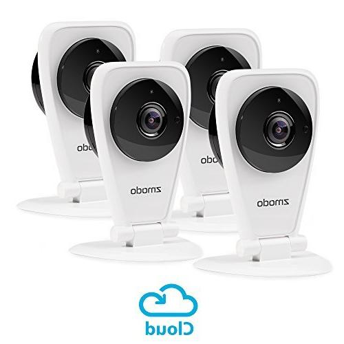 Zmodo 4-Pack EZCam Wireless Kid and Pet Monitoring Security with Audio - Cloud Available