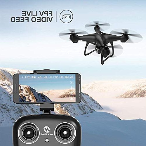 Holy Stone RC Drone Camera Video 1080P HD and Return Home with Wide-Angle WIFI Follow Me, Battery Long Control Range