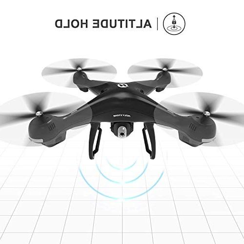 Holy Stone FPV RC Drone HS100 with Camera Video HD and Return Home Quadcopter Wide-Angle WIFI Camera Me, Altitude Battery