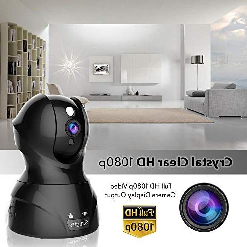 SereneLife Camera HD 1080p Network Surveillance Home Monitoring Motion Detection, Night Vision, PTZ, Android Mobile PC -