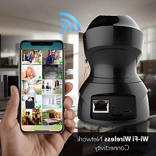 SereneLife Camera HD 1080p Network Security Monitoring w/ Motion Night Vision, Way Audio Android PC WiFi - IPCAMHD82