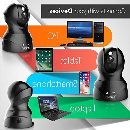 SereneLife Camera Network Security Surveillance Home Monitoring Night Vision, PTZ, Way Android Mobile - IPCAMHD82