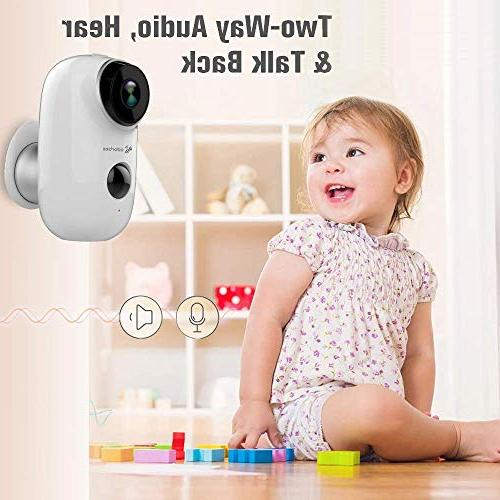 Farsler A3 Rechargeable Battery-Powered Camera Indoor/Outdoor Security Camera 2-Way Audio Vision Motion Sensor Slot
