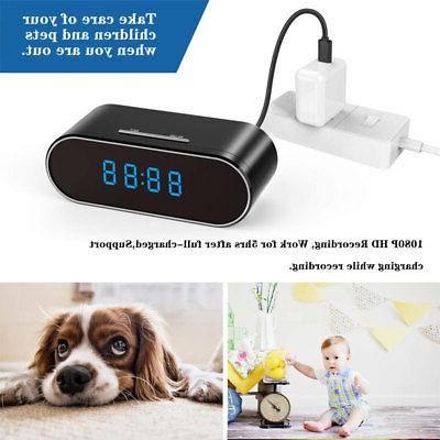 HD Wifi Mini Alarm Clock IR Nanny Camera