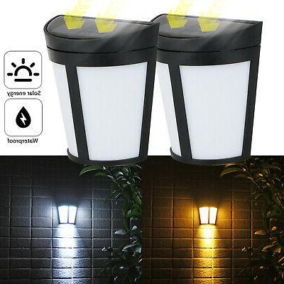 6 LED Power Wall Light Garden Path Yard Patio