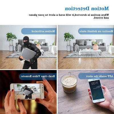 HD Wireless Wifi Mini Alarm Clock IR Camera