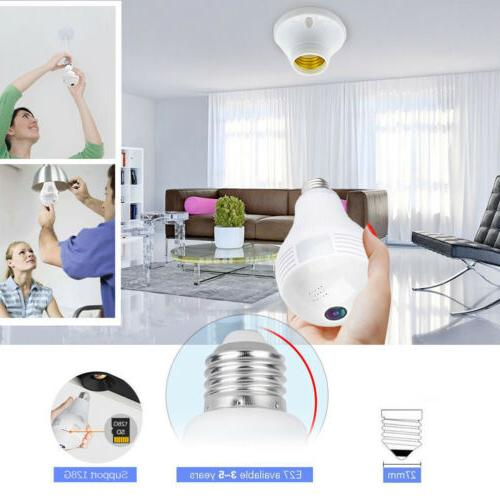 Mini Wireless 1080P Panoramic WIFI Control Bulb.