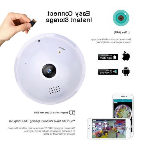 Mini Wireless 1080P Hidden Camera Panoramic WIFI Light