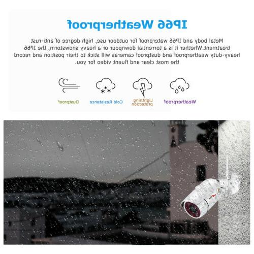 8CH 1080P Camera System Outdoor Wireless Home CCTV