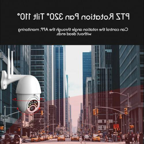 Outdoor WiFi PTZ Pan 1080P Security IP IR Camera Night