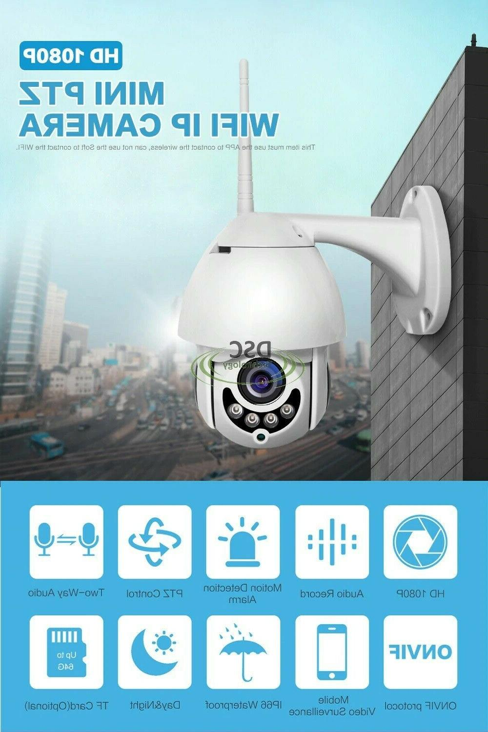 Outdoor PT Pan Security IP IR NightVision