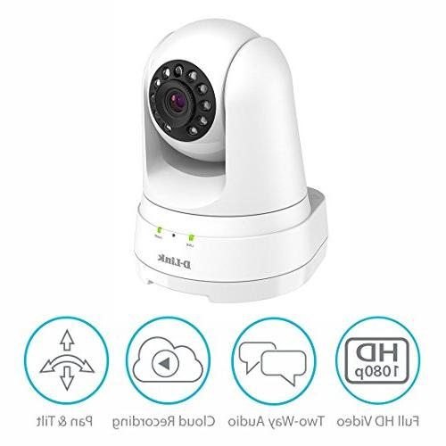 D-Link Full HD Pan/Tilt/Zoom WiFi Indoor Security Camera/ Recording, 2-way Audio, Detection Night Vision/ Amazon Echo Google Assistant