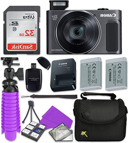 Canon HS Digital Sandisk 32 GB Memory Card + Tripod + Reader + Cleaning Kit