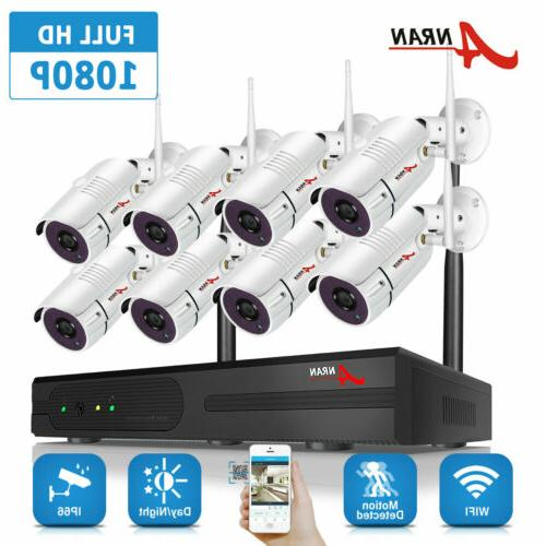 security camera system wireless 8ch nvr wifi