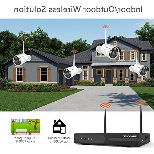 1080P Outdoor Security Cameras Video System-8PCS 2.0MP Weatherproof IP Night Vision, 2TB