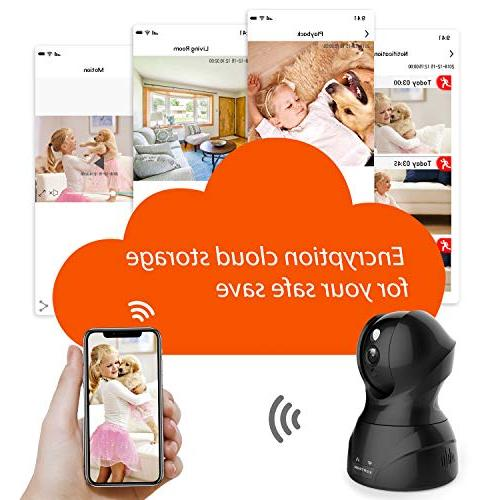 Security Camera Home Wireless Baby/Pet Camera with Cloud Two-Way Audio Motion Night Vision Remote