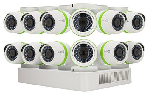 EZVIZ FULL Outdoor Surveillance System, Weatherproof HD Cameras, 16 Storage, 100ft Customizable
