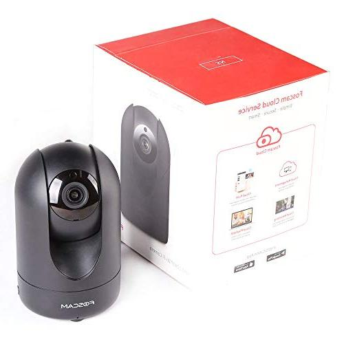 Foscam 1080P HD, Free Storage, Mutual or Wired Connection, Motion/Sound Sensor, IP Home System, Black