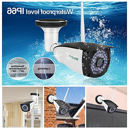 WiFi Outdoor, Motion IP IR Vision Surveillance Camera, Waterproof for Outdoor, Max 128GB SD