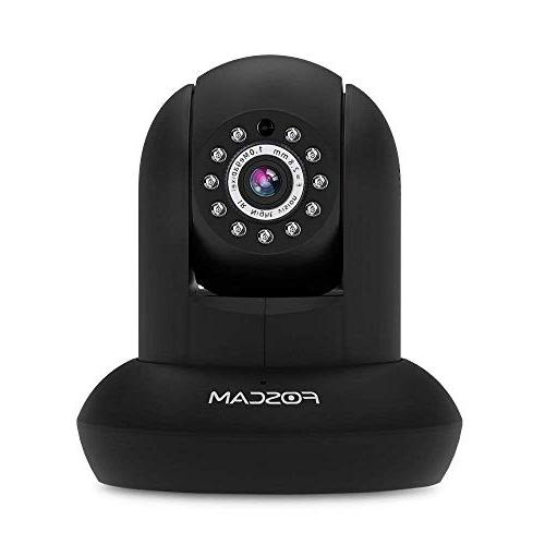Foscam Security 720P HD IP Camera with Real-time 720P Video Tilt, Night up to Free Trial Cloud Storage Service, Black