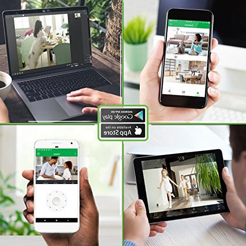 Zencam HD Zoom Security System with Night Two Talk, Motion Alerts, Streaming, & Cloud Storage,