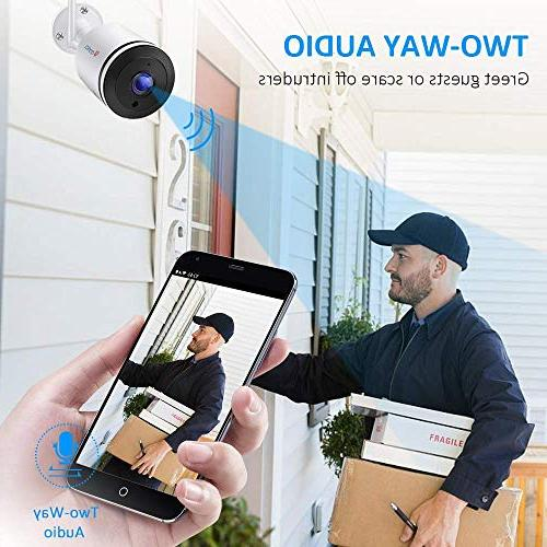 Ctronics Wifi Camera Outdoor,1080P Wireless with Camera with Vision,IP65 Waterproof,Motion SD card to