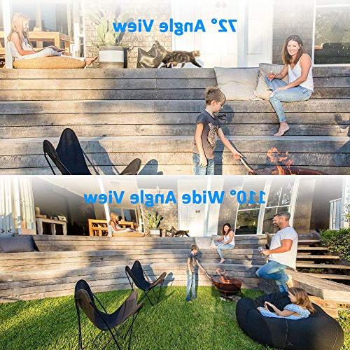Ctronics Wireless Security Camera with 110°Wide with Two-Way Audio,98f Vision,IP65 card Up