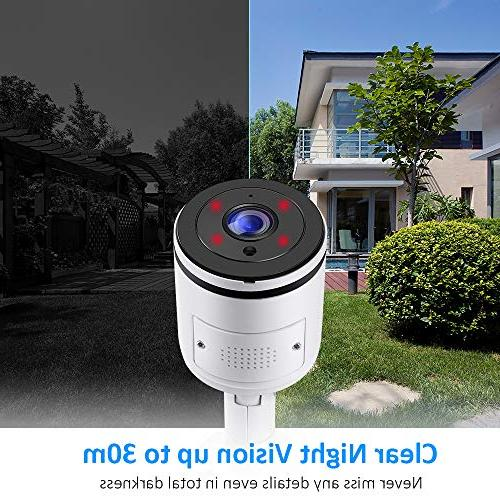 Ctronics Wifi Camera Outdoor,1080P Wireless Camera with Camera with Vision,IP65 Detect,Micro card to