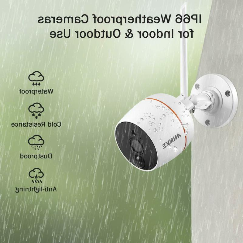 ANNKE IP 1080P 2 Pack WiFi Cameras, Plug and Play,