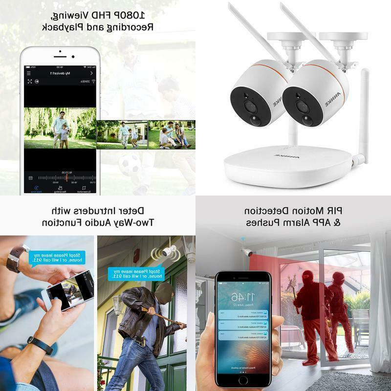 wireless ip camera 1080p 2 pack security
