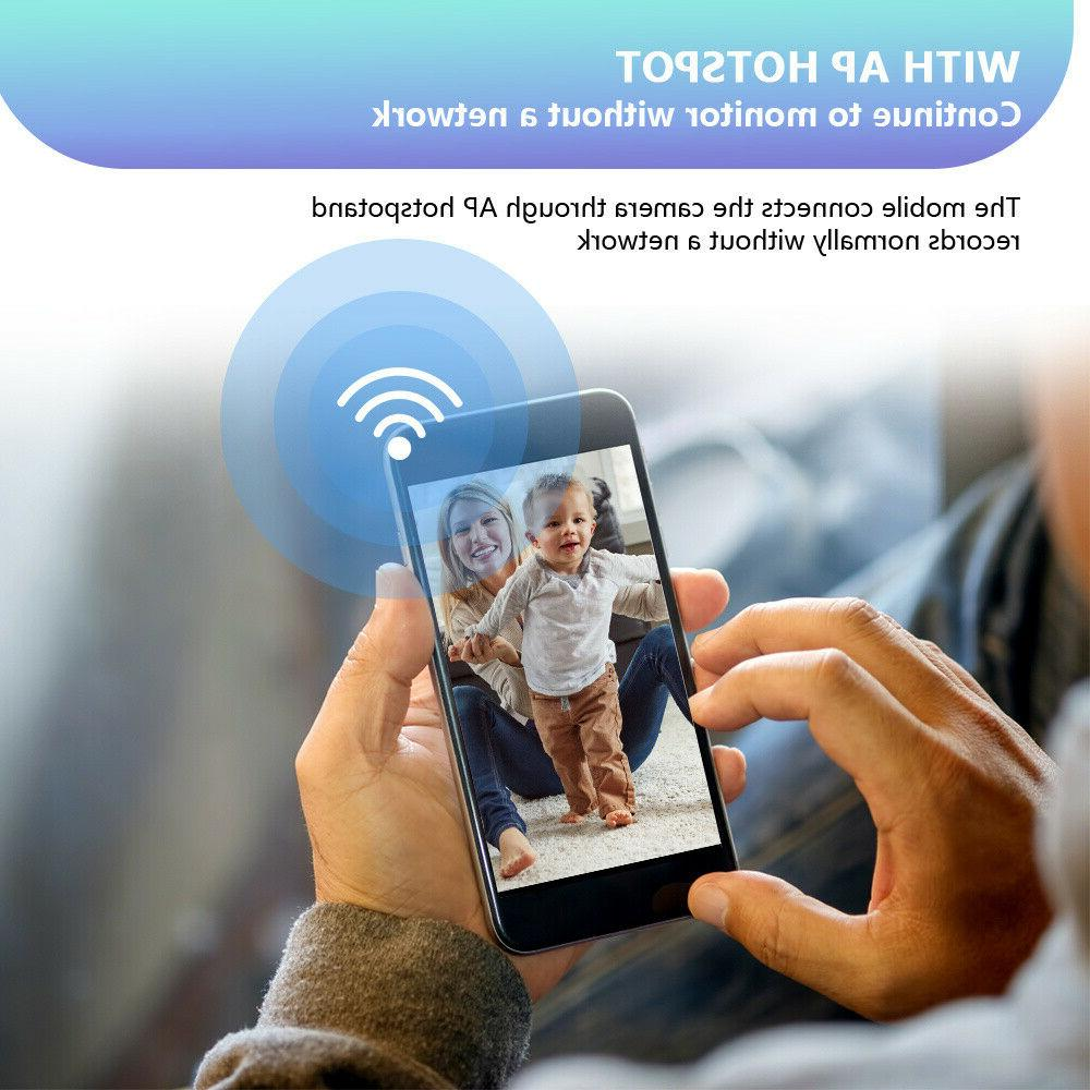 Wireless Baby Monitor Motion Detction WiFi HD Two-Way Audio Portable