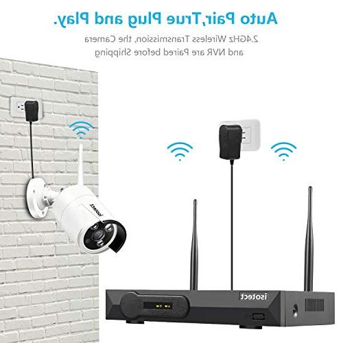 System, 8CH Full HD 1080P Video System, 4pcs Outdoor/Indoor Security Cameras, Vision and View, 1TB HDD