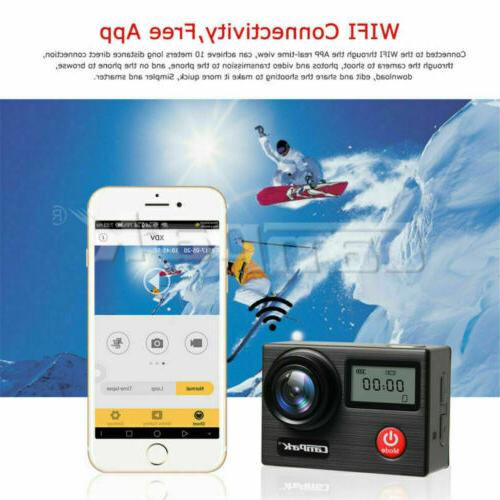 Campark Camera 4K 20MP WiFi Touch Screen Dual LCD